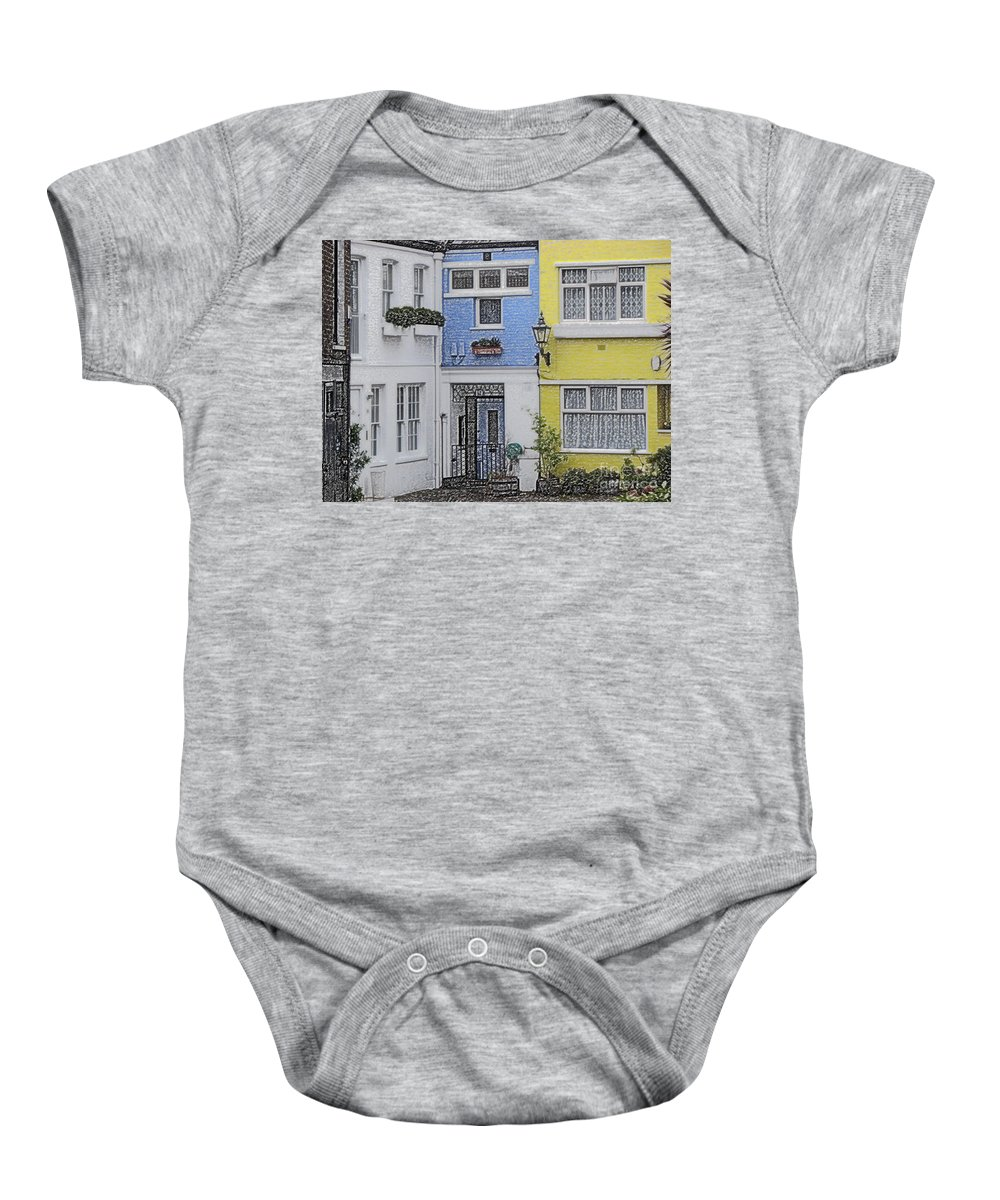 House Baby Onesie featuring the photograph Houses by Amanda Barcon