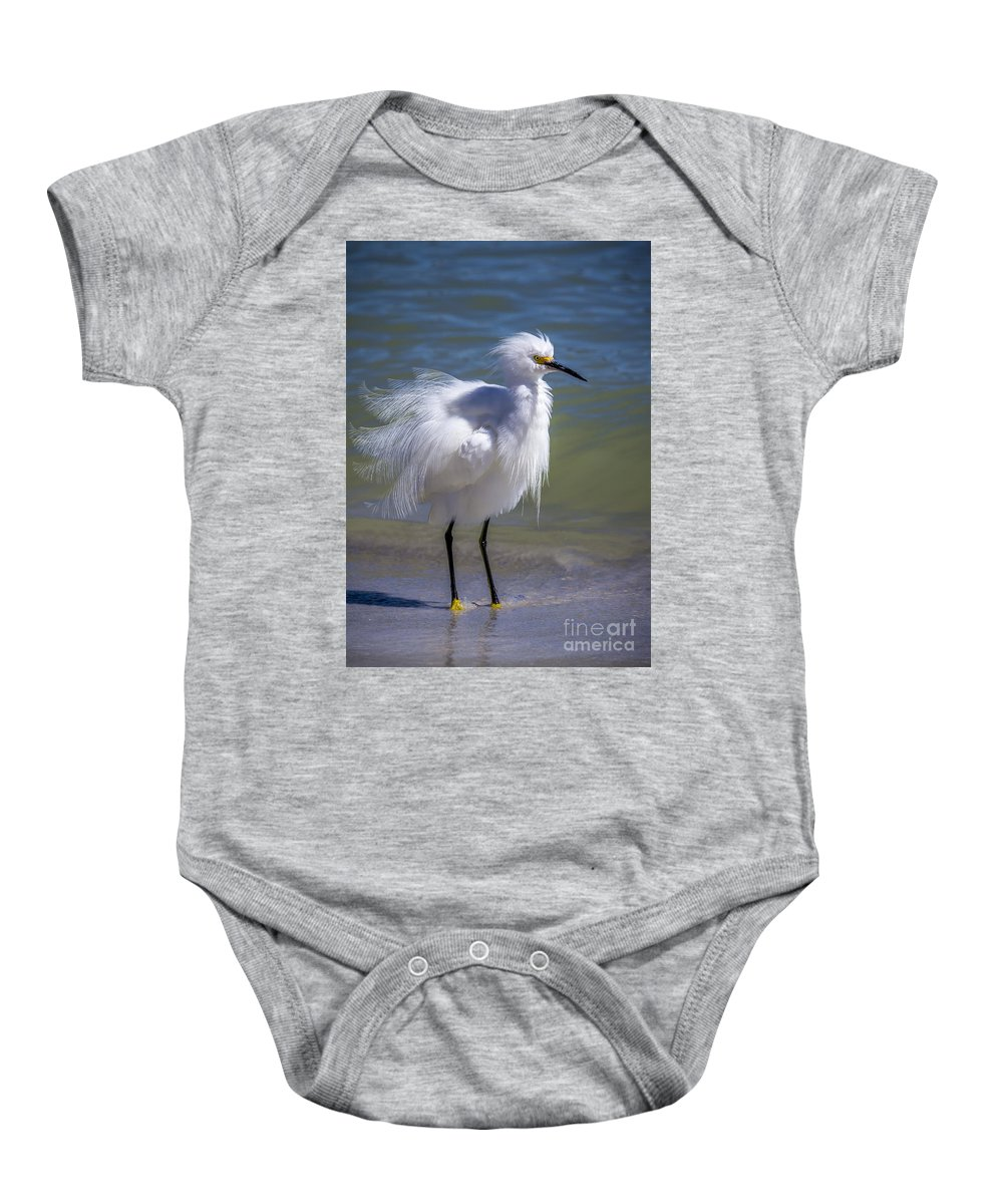 Cove Baby Onesie featuring the photograph How Do I Look by Marvin Spates