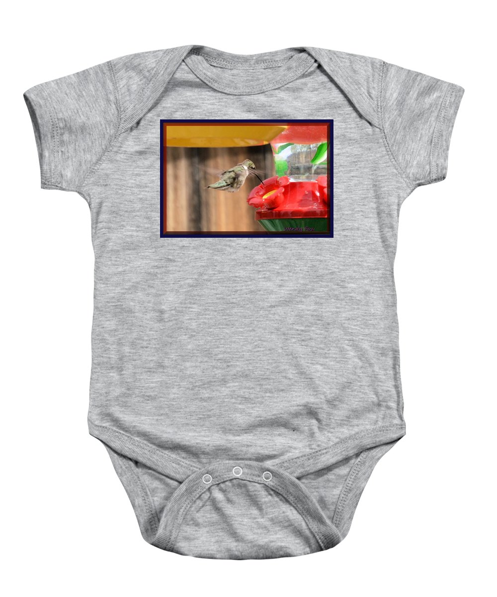 Hummingbird Baby Onesie featuring the photograph Hummingbird by Wendy Fox