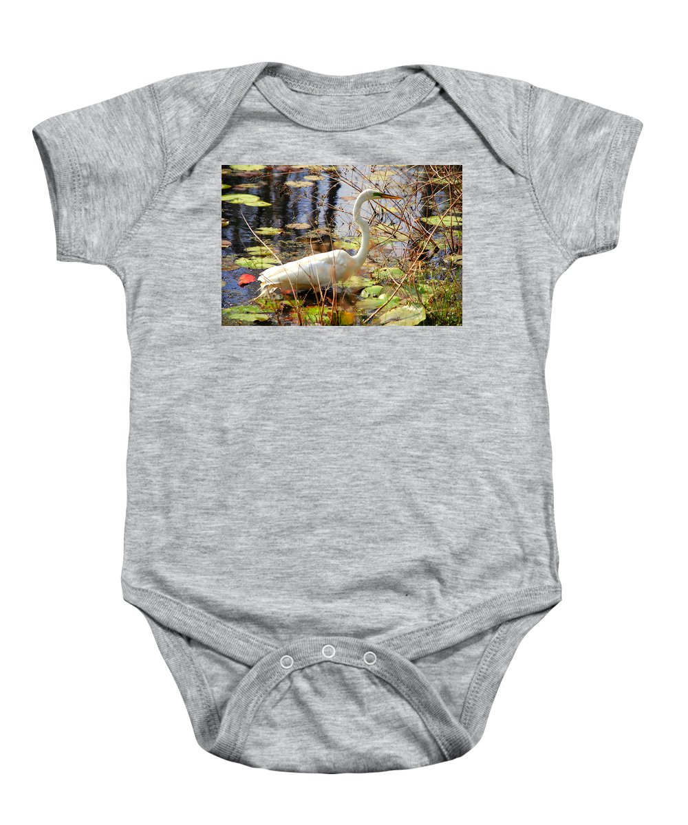 Photography Baby Onesie featuring the photograph Hunting For Food by Susanne Van Hulst
