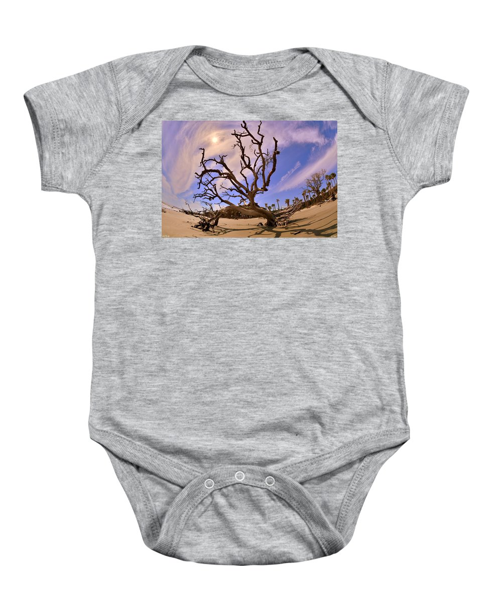 Hunting Island Beach And Driftwood Beaufort Sc Baby Onesie featuring the photograph Hunting Island Beach And Driftwood Beaufort Sc by Lisa Wooten