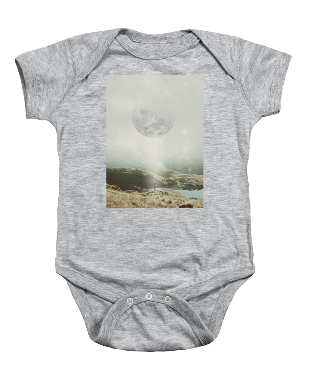 Moon Baby Onesie featuring the photograph I Call For An Awakening by Mariam Soliman