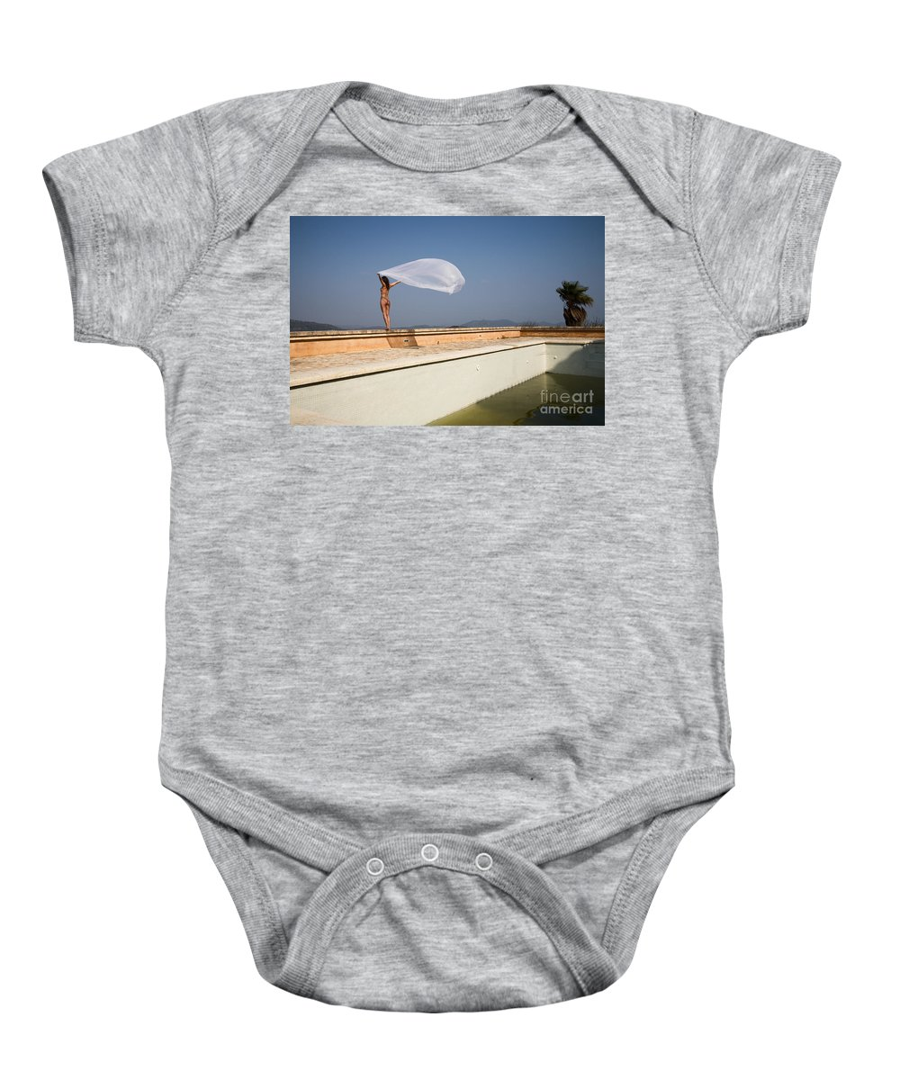 Sensual Baby Onesie featuring the photograph I Will Fly To You by Olivier De Rycke