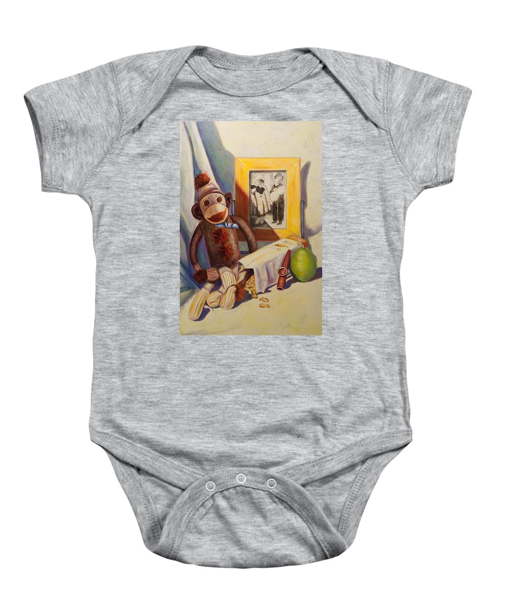 Children Baby Onesie featuring the painting I Will Remember You by Shannon Grissom