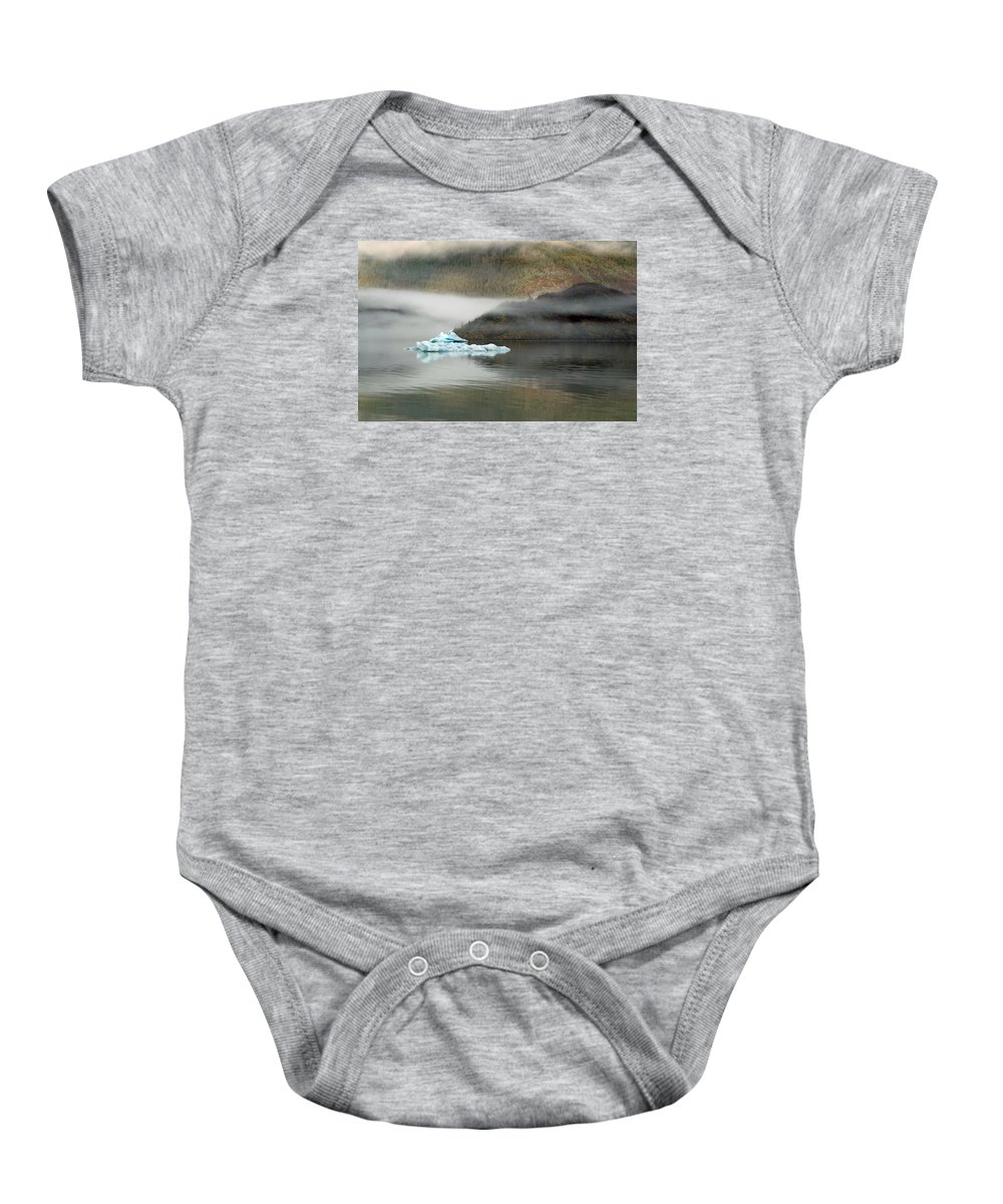 Juneau Baby Onesie featuring the photograph Iceberg Reflections by Cathy Mahnke