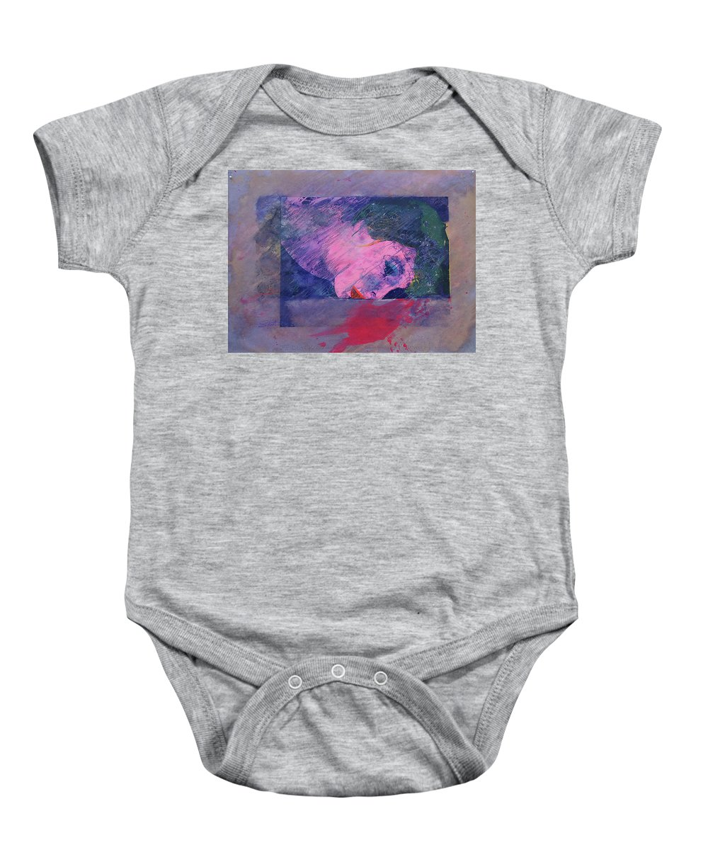 Psycho Baby Onesie featuring the painting Iconoclasm 2 by Charles Stuart