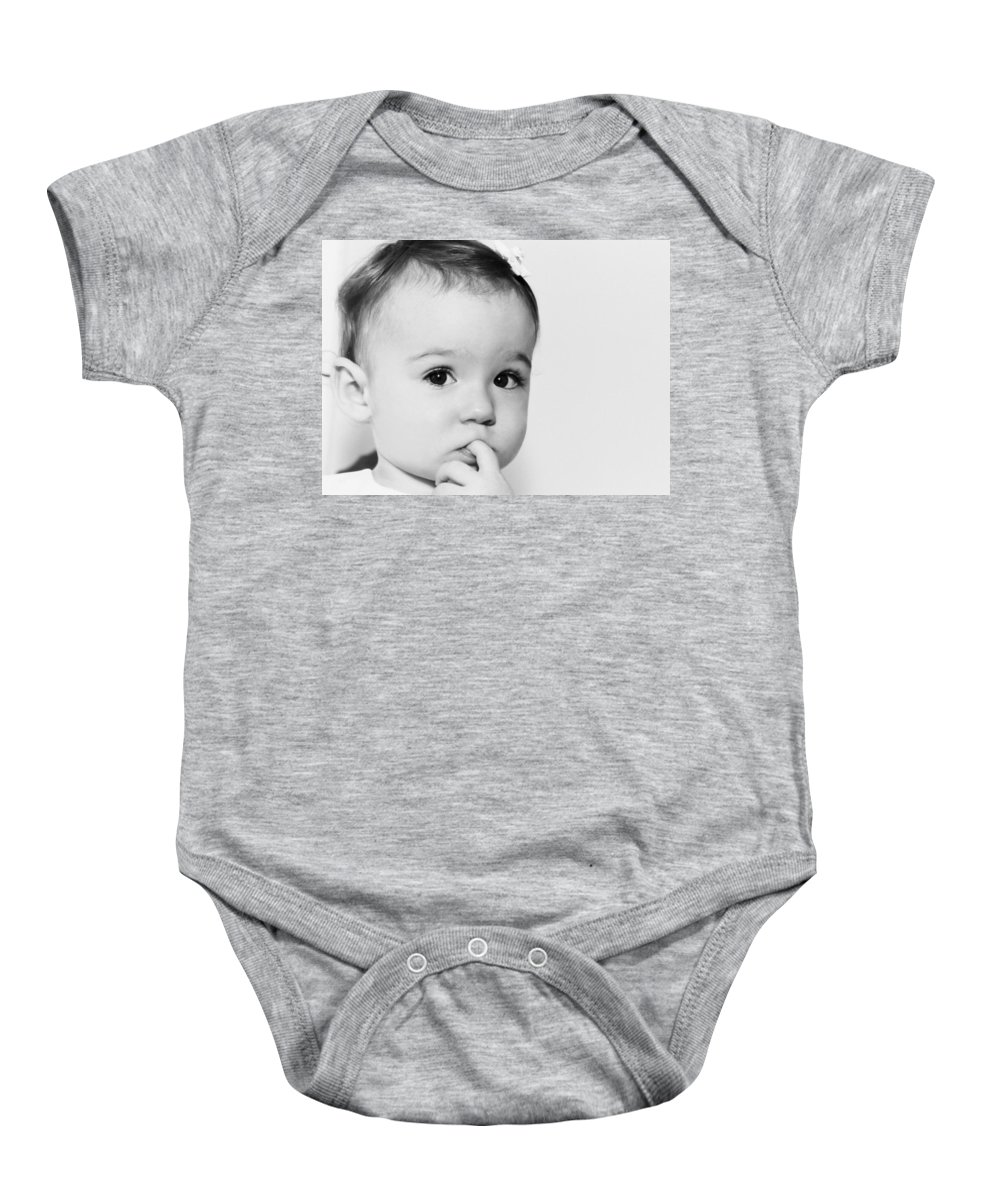 Baby Baby Onesie featuring the photograph I'll Have To Ponder On That... by Spirit Vision Photography
