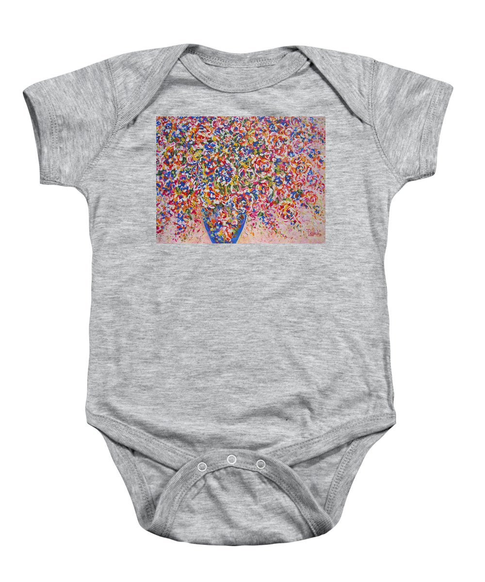 Flowers Baby Onesie featuring the painting Illumination by Natalie Holland