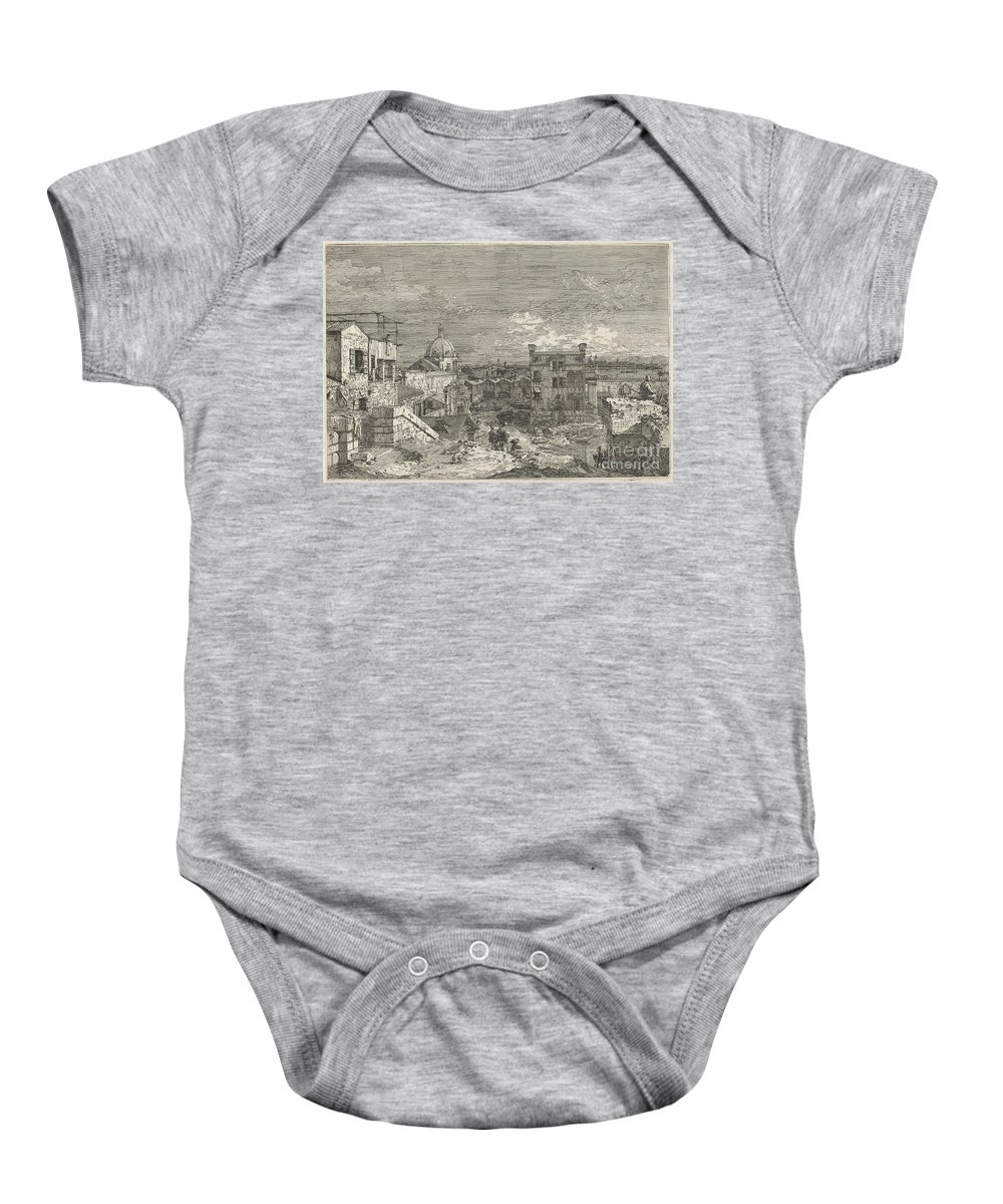 Baby Onesie featuring the drawing Imaginary View Of Venice by Canaletto