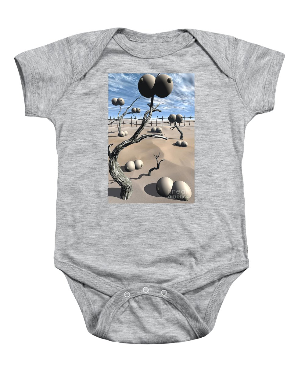Humor Baby Onesie featuring the digital art Imm Plants by Richard Rizzo