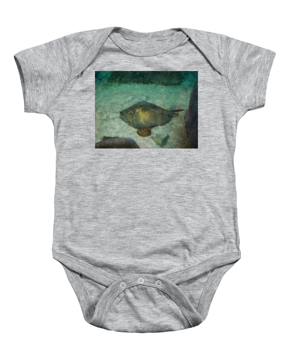 Sting Ray Baby Onesie featuring the photograph Impressionistic Sting Ray - 003 by Dave Stubblefield