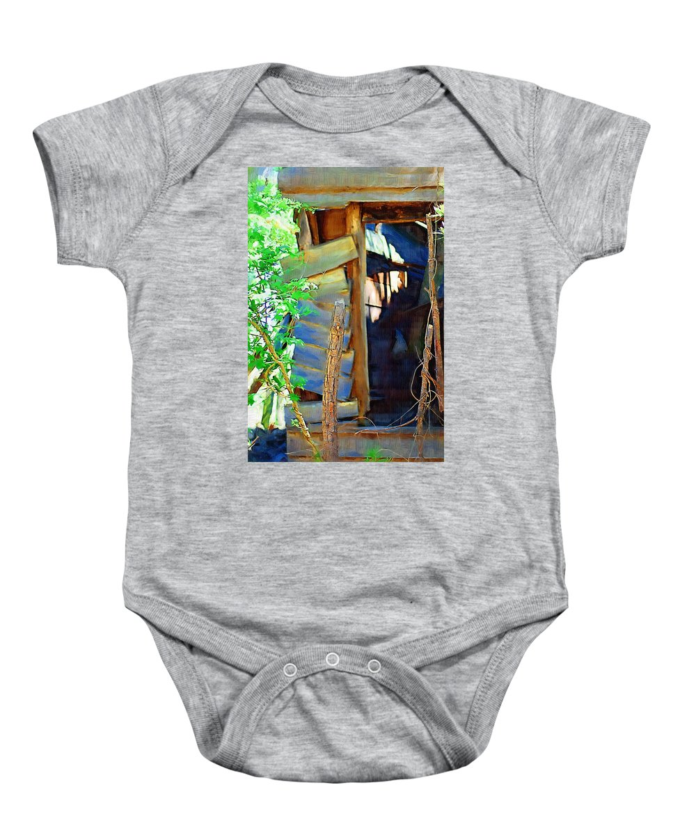 House Baby Onesie featuring the photograph In Shambles by Donna Bentley
