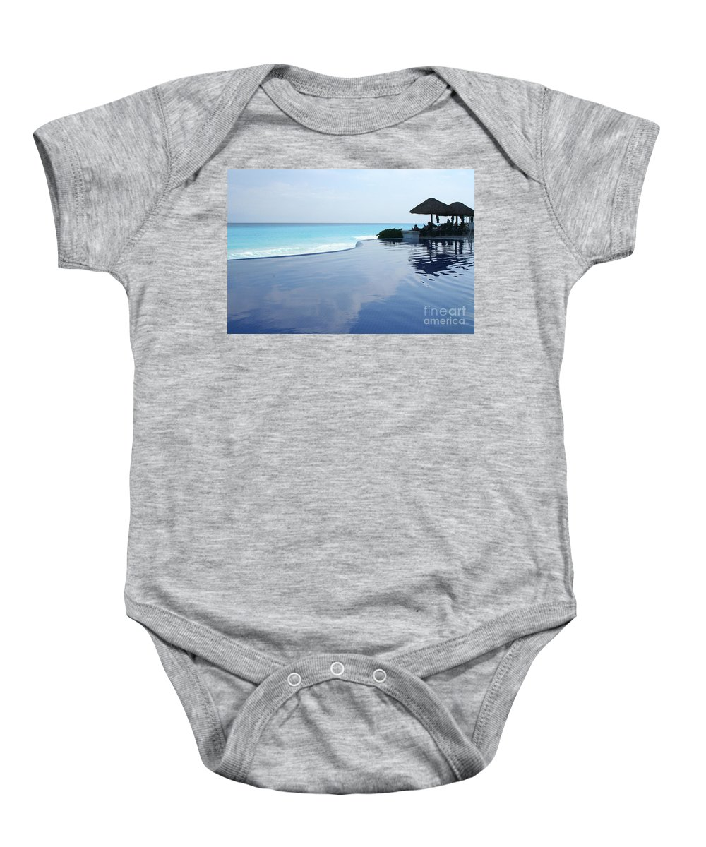 Infinity Baby Onesie featuring the photograph Infinity Pool by Thomas Marchessault