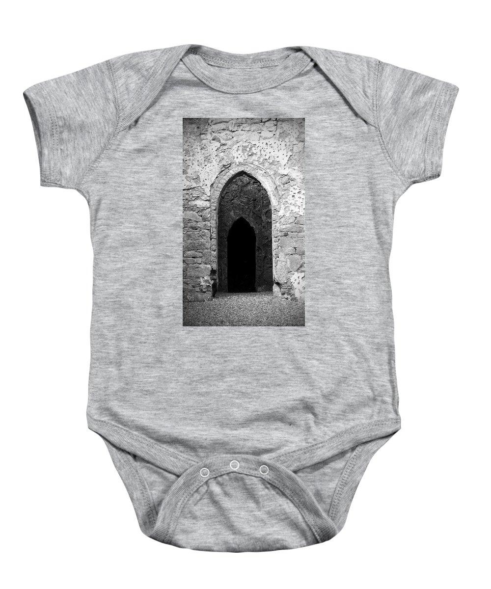 Ireland Baby Onesie featuring the photograph Inner Sanctum Fuerty Church Roscommon Ireland by Teresa Mucha