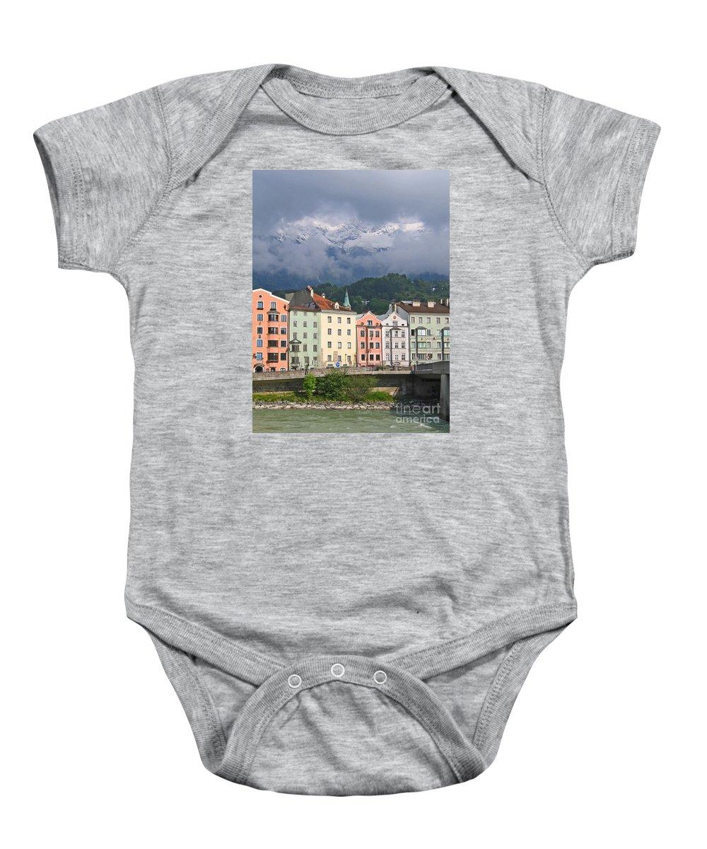 Innsbruck Baby Onesie featuring the photograph Innsbruck by Ann Horn