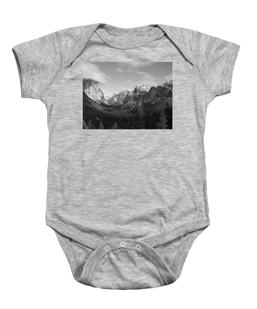 Yosemite Baby Onesie featuring the photograph Inspiration Point by Travis Day