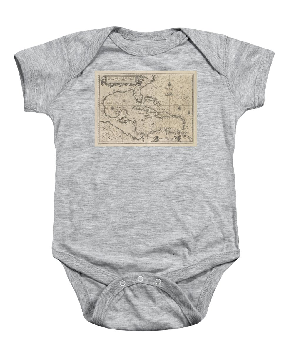 Insulae Baby Onesie featuring the photograph Insulae Americanae In Oceano Septentrionale by Paul Fearn