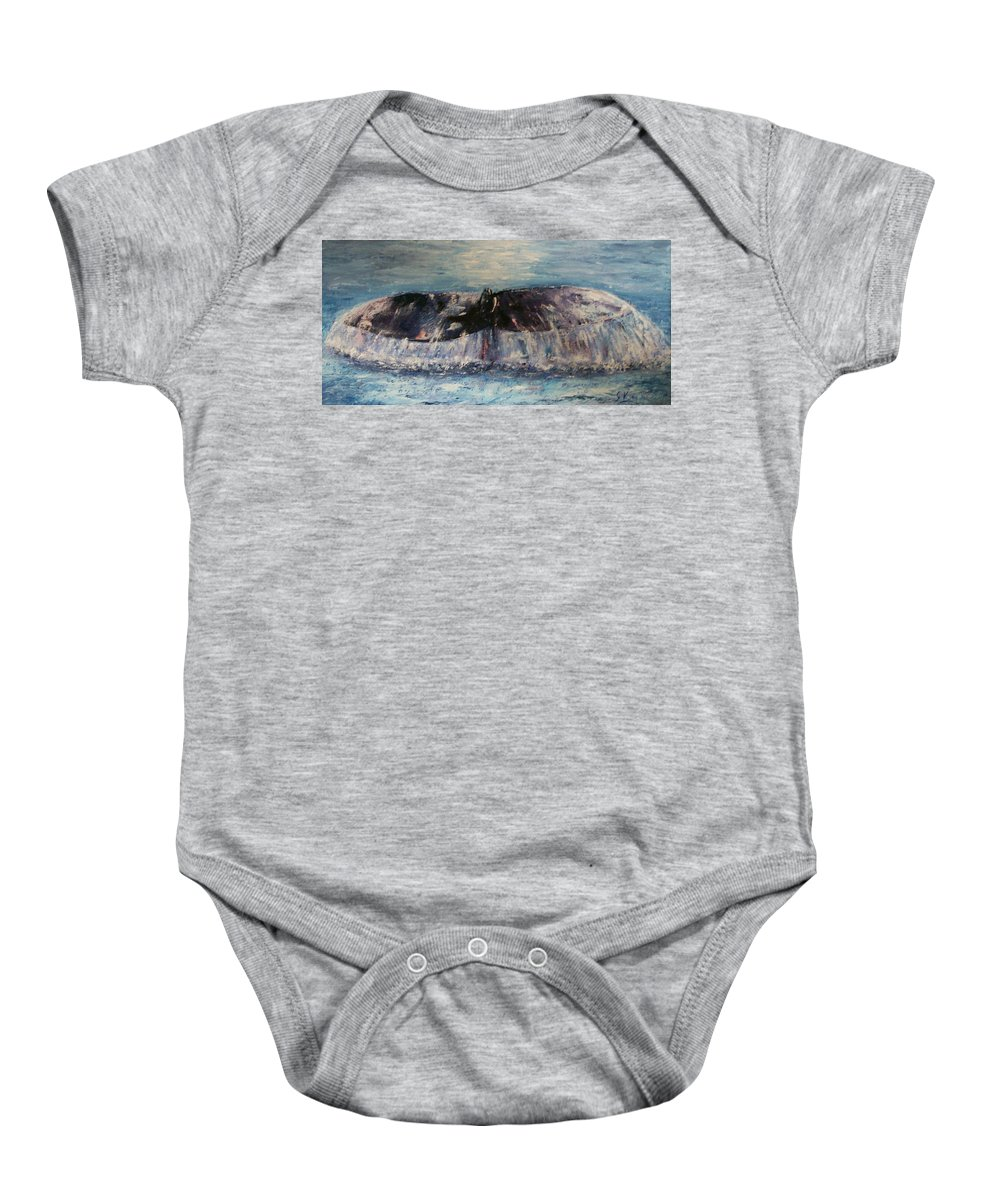 Seascape Baby Onesie featuring the painting Into The Deep by Stephen King