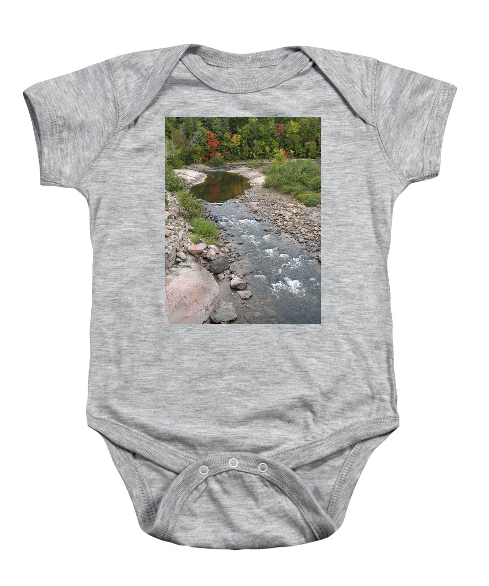 Water Baby Onesie featuring the photograph Into The Woods by Kelly Mezzapelle
