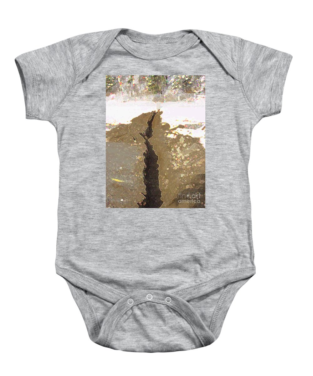 Abstract Baby Onesie featuring the digital art Intrusion by Ron Bissett