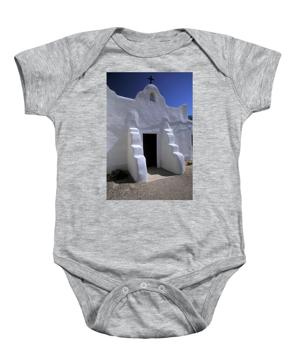 Adobe Baby Onesie featuring the photograph Isleta by Jerry McElroy