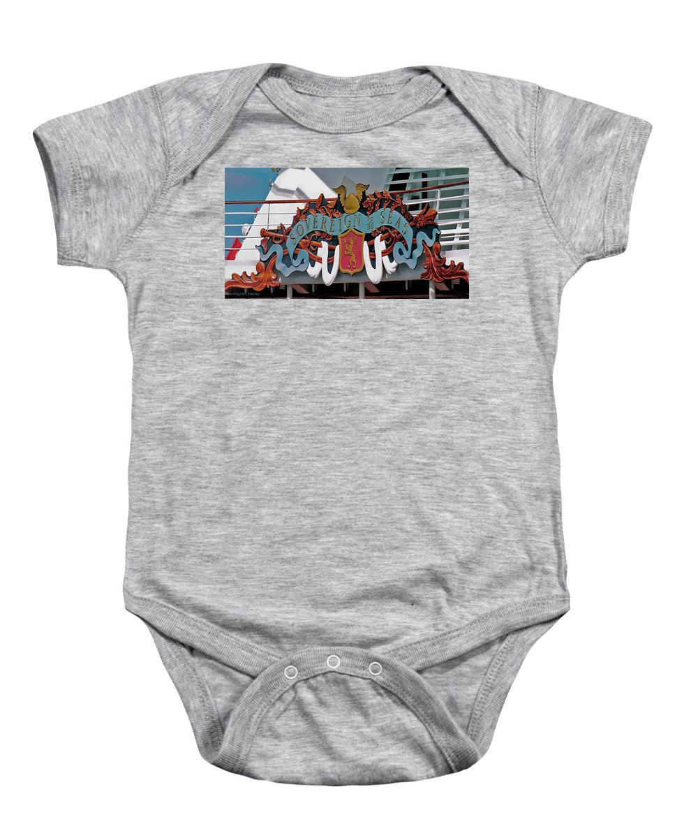 Cruise Baby Onesie featuring the digital art Its All In The Name by DigiArt Diaries by Vicky B Fuller