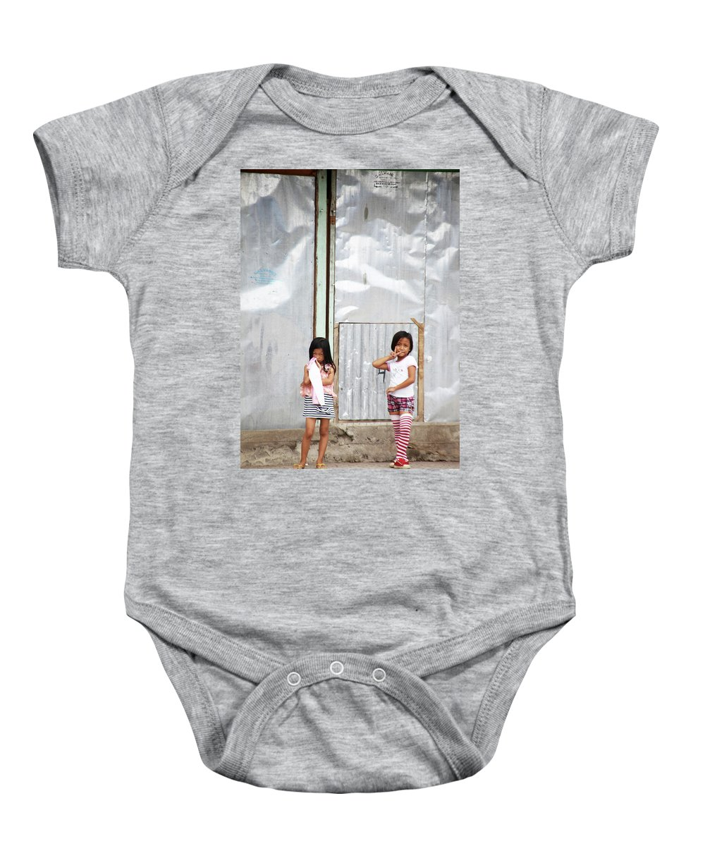 Mati Baby Onesie featuring the photograph It's All We Have Seen by Jez C Self