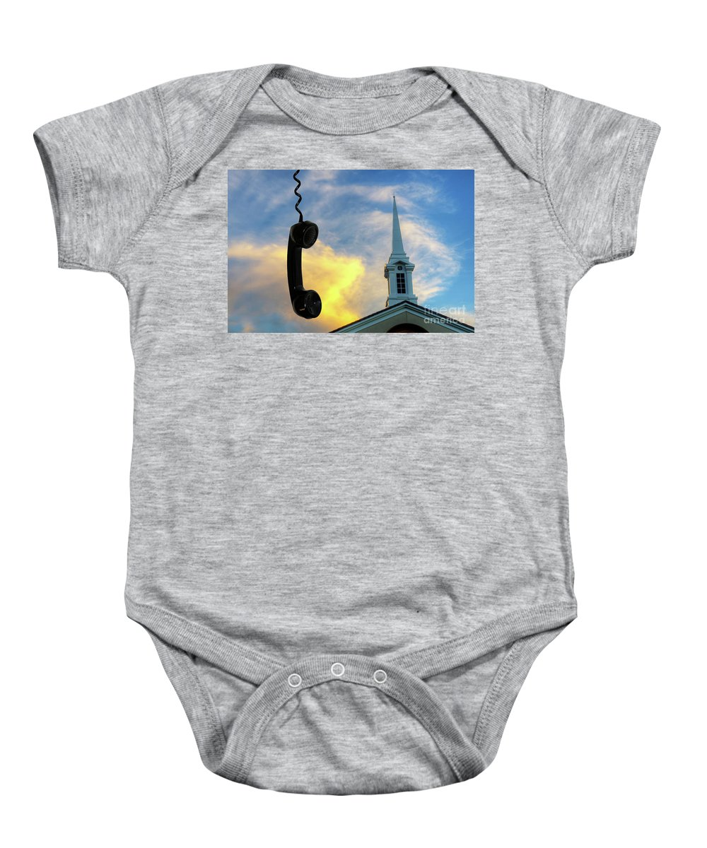 Church Baby Onesie featuring the photograph It's For You by Bob Christopher
