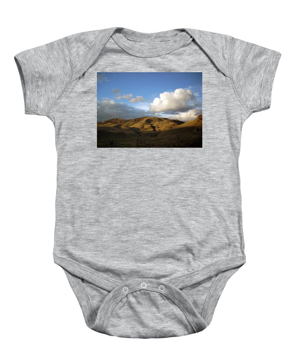 Sunset Baby Onesie featuring the photograph J D Sunset 2 by Sara Stevenson