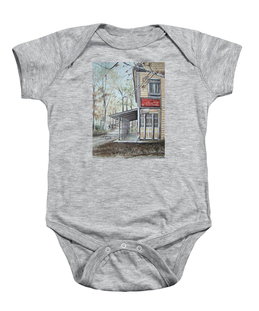 Charles Roy Smith Baby Onesie featuring the painting Jackson Springs by Charles Roy Smith