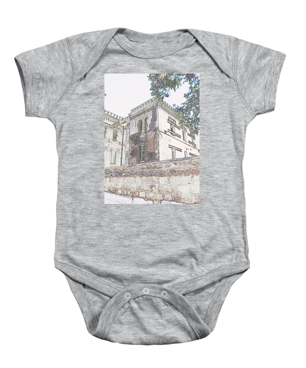 Baby Onesie featuring the photograph Jail by Teresa Doran