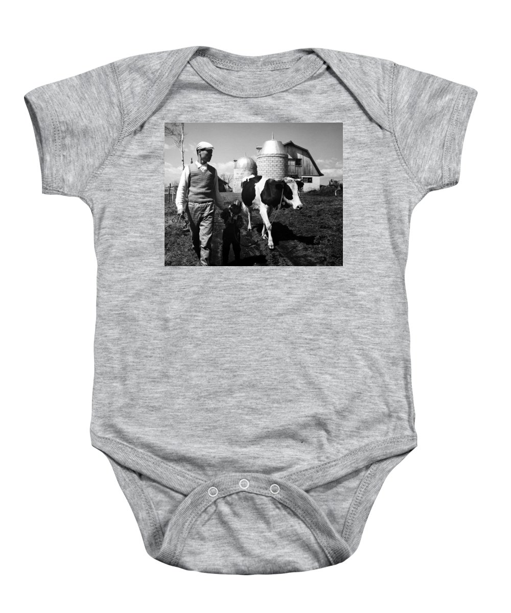 1962 Baby Onesie featuring the photograph Japan: Land Reclamation by Granger