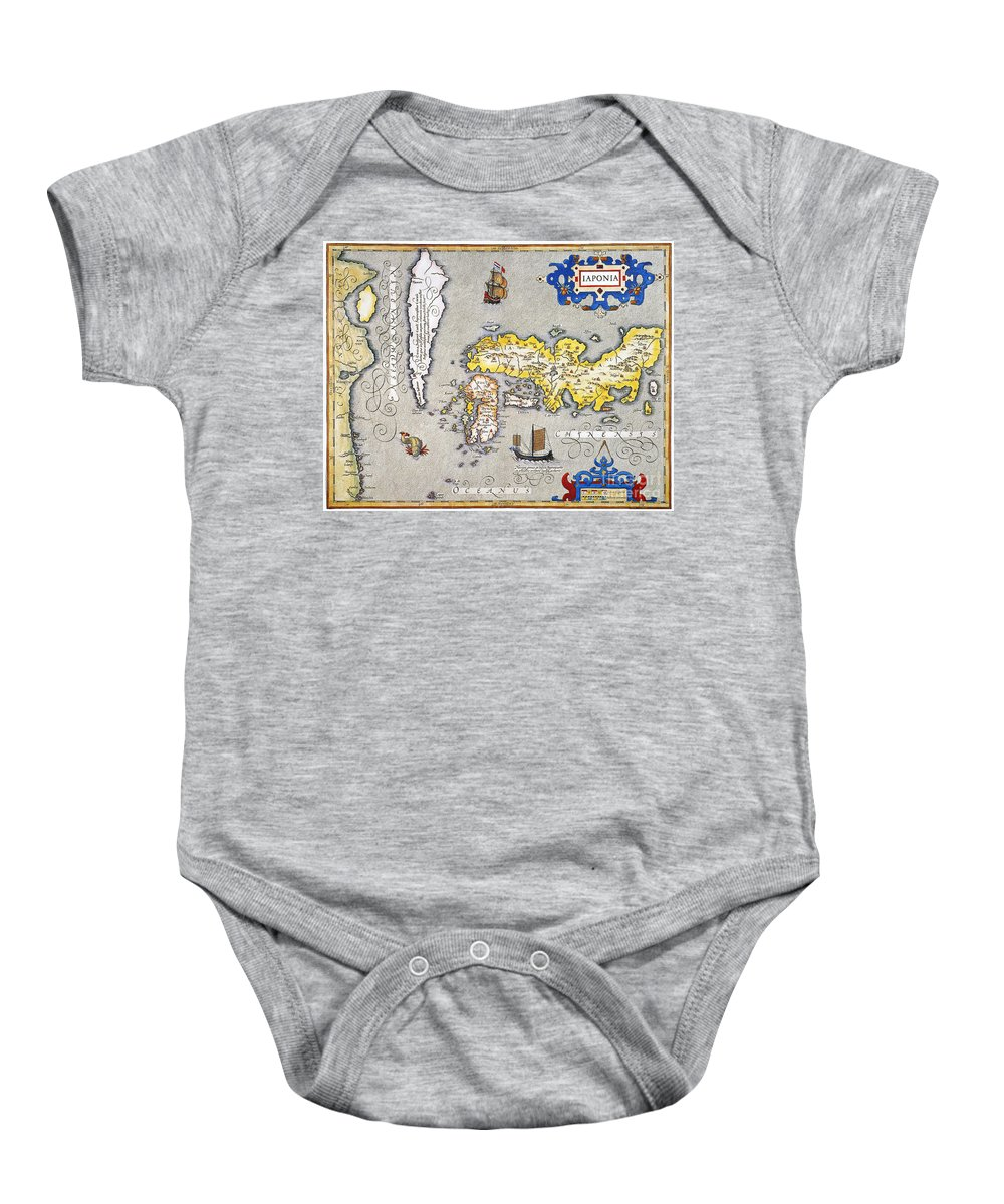1606 Baby Onesie featuring the photograph Japan: Map, 1606 by Granger