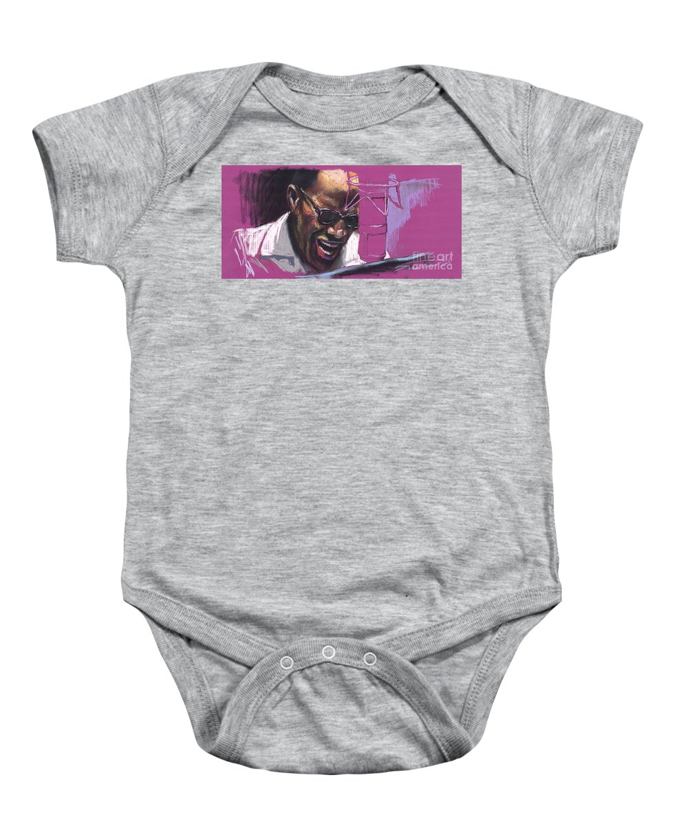 Jazz Baby Onesie featuring the painting Jazz Ray by Yuriy Shevchuk
