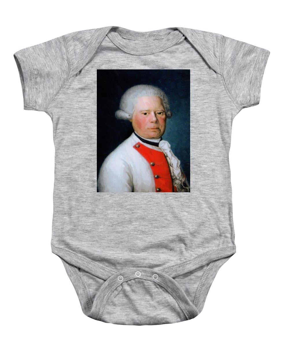 Jean Baby Onesie featuring the painting Jean Baptiste Brequin De Demenge 1769 by Ducreux Joseph