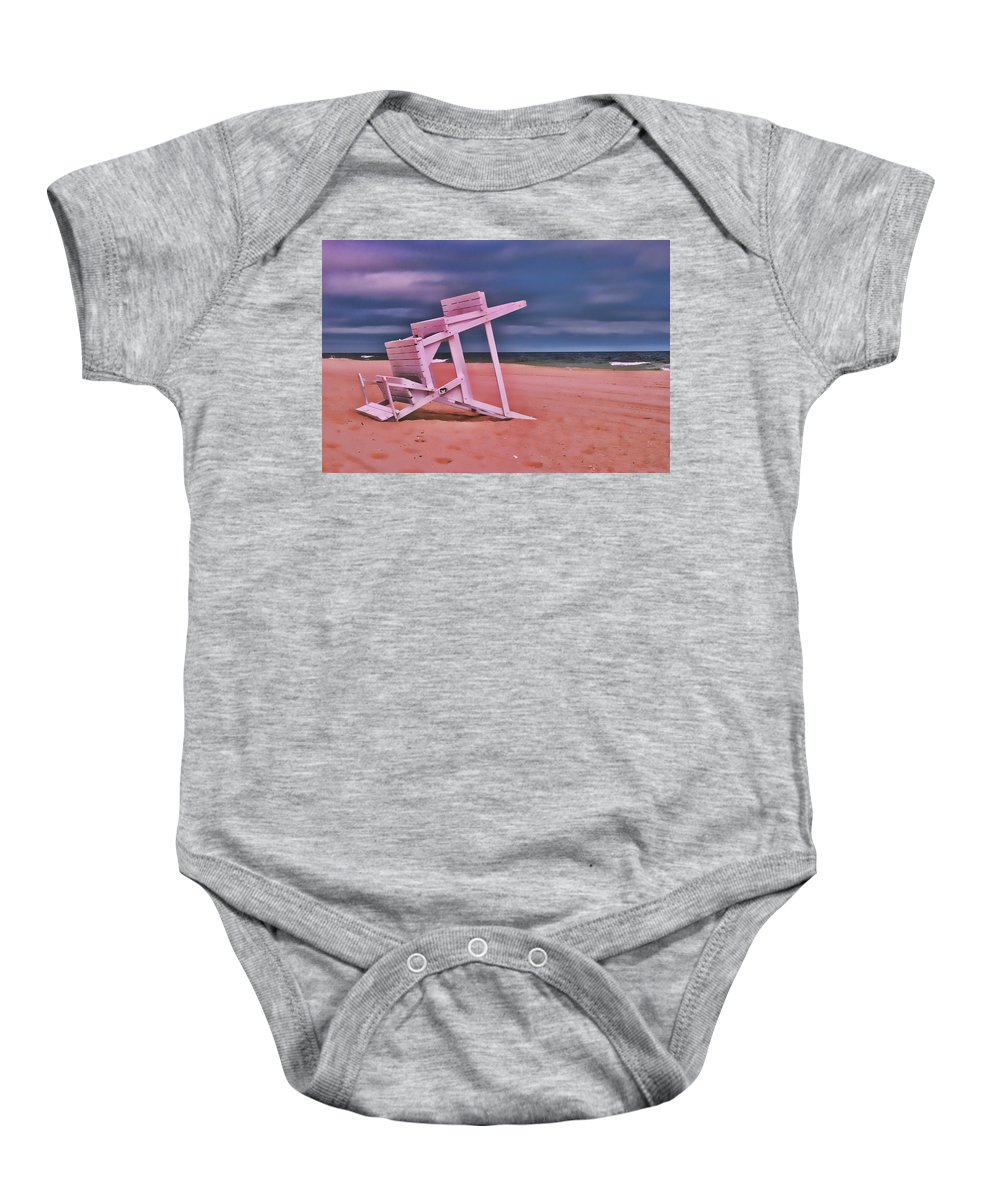Island Beach State Park Baby Onesie featuring the photograph Jersey Shore 2 by Allen Beatty