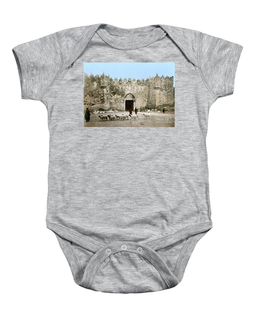 1900 Baby Onesie featuring the photograph Jerusalem: Damascus Gate by Granger
