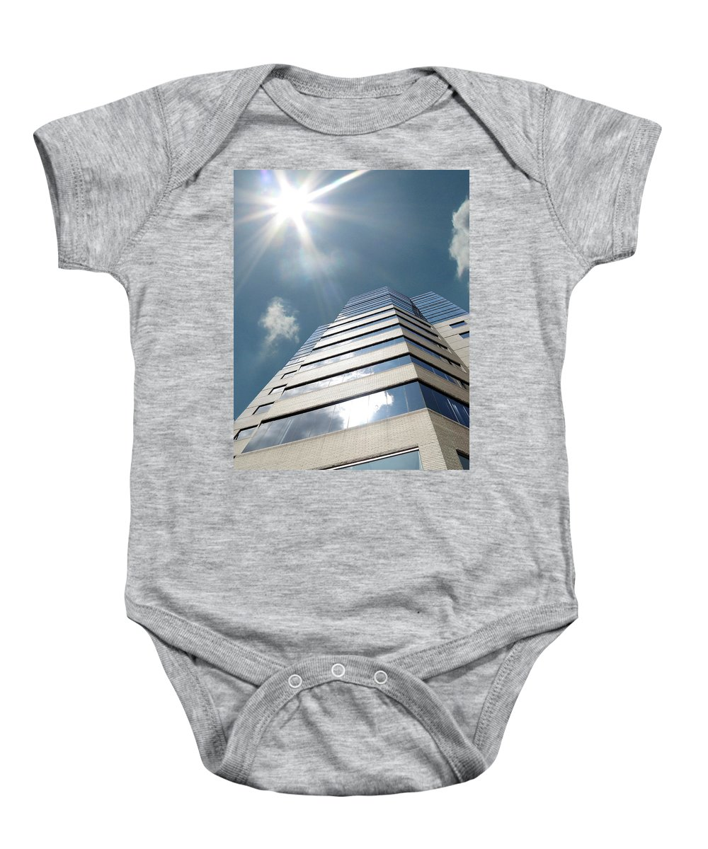 Jewish Baby Onesie featuring the photograph Jewish Hospital-louisville Ky by Amber Flowers