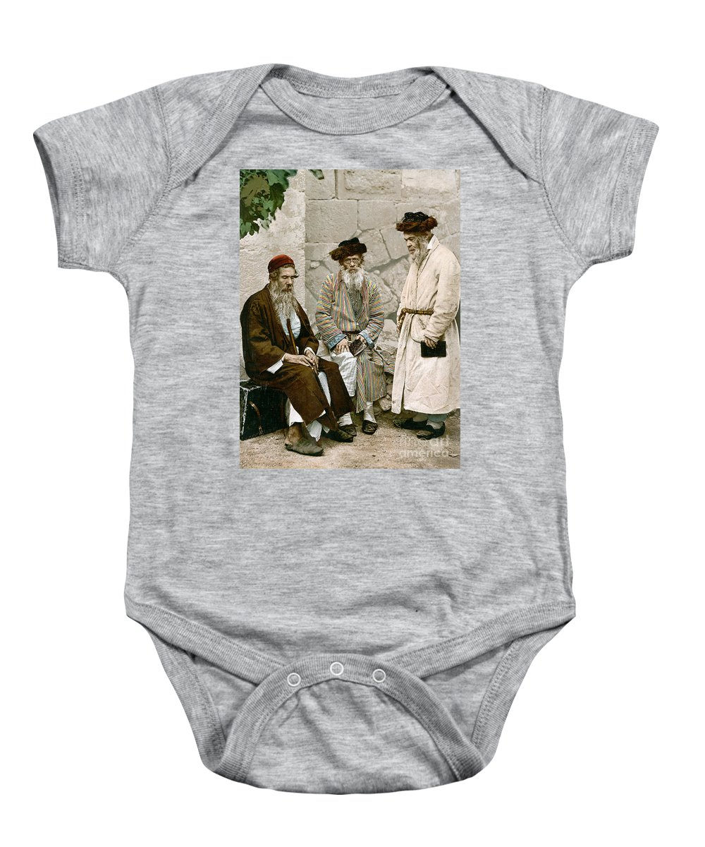 1900 Baby Onesie featuring the photograph Jews In Jerusalem, C1900 by Granger