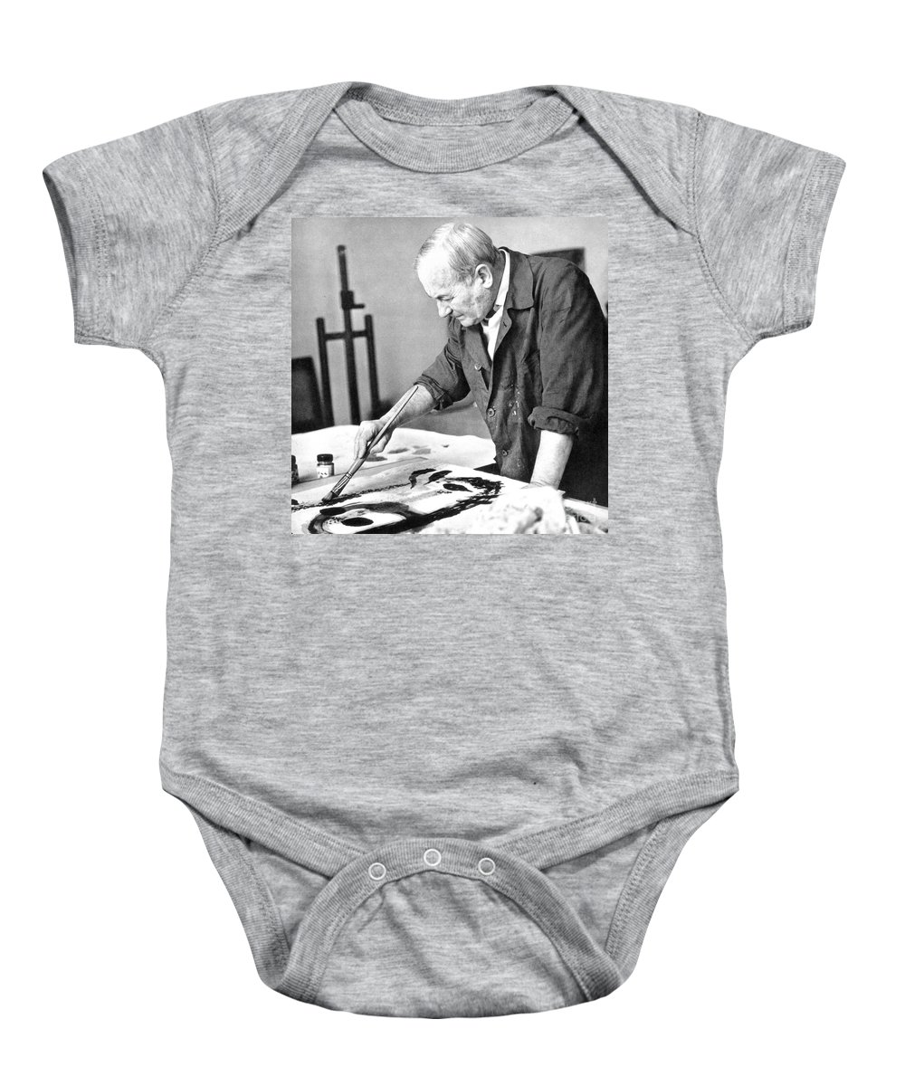 20th Century Baby Onesie featuring the photograph Joan Miro (1893-1983) by Granger