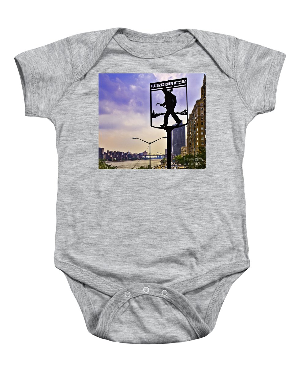 John Finley Baby Onesie featuring the photograph John Finley Walk IIi by Madeline Ellis