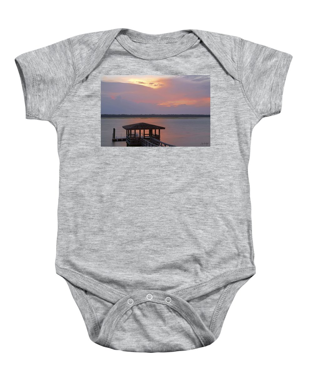 Sunset Baby Onesie featuring the photograph July Evening by Phill Doherty