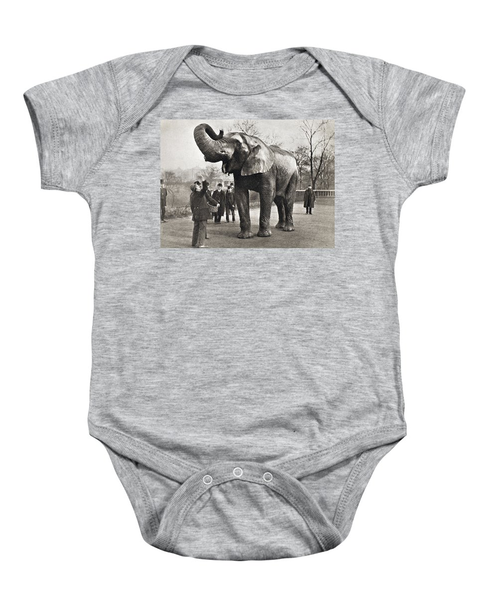 1882 Baby Onesie featuring the photograph Jumbo, C1882 by Granger
