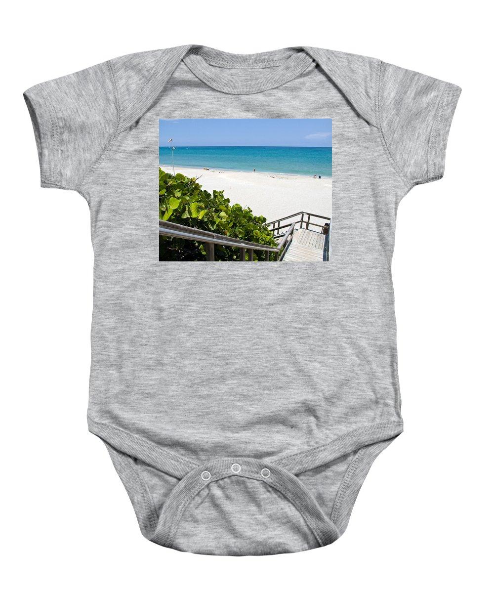 Juno; Florida; Loxahatchee; River; Jupiter; Inlet; Swim; Swimming; Children; Girl; Boy; Woman; Man; Baby Onesie featuring the photograph Juno Florida by Allan Hughes