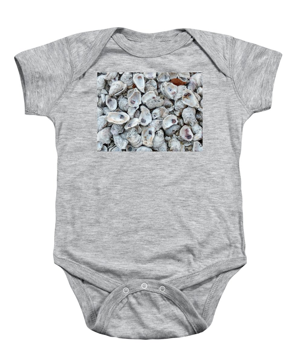 Shells Baby Onesie featuring the photograph Just For The Shell Of It by Nancy Turner