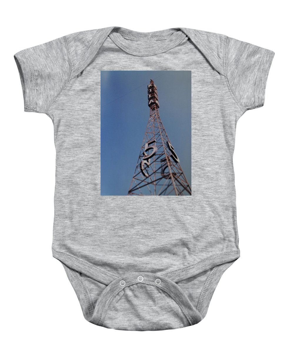 Hollywood Baby Onesie featuring the photograph K T L A Channel 5 by Rob Hans