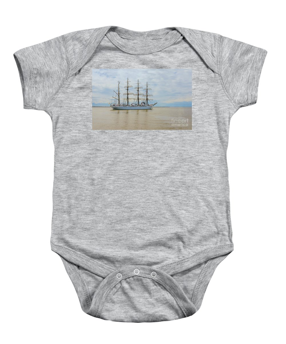 Kaiwo Maru Baby Onesie featuring the photograph Kaiwo Maru On The Way To The Open Ocean. by Viktor Birkus