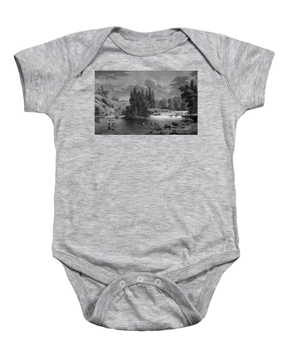 1851 Baby Onesie featuring the photograph Kane: White Mud Portage by Granger