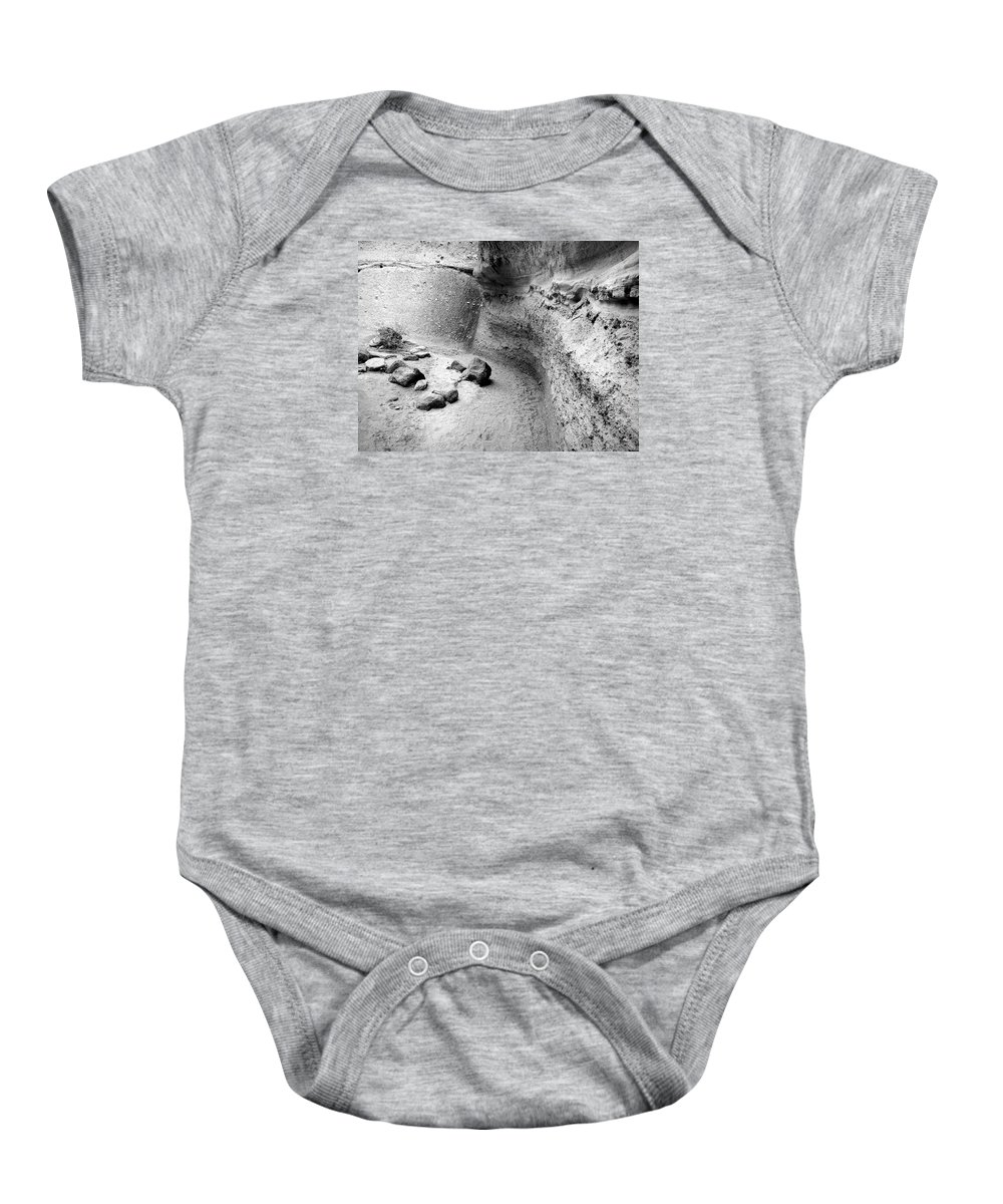 Rightfromtheart Baby Onesie featuring the photograph Kasha-katuwe Tent Rocks National Monument 10 by Bob and Kathy Frank