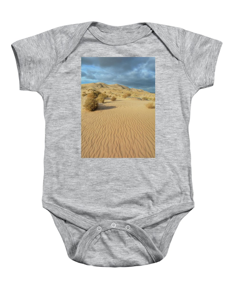 Mojave Desert Baby Onesie featuring the photograph Kelso Dunes Mojave Preserve Portrait by Kyle Hanson